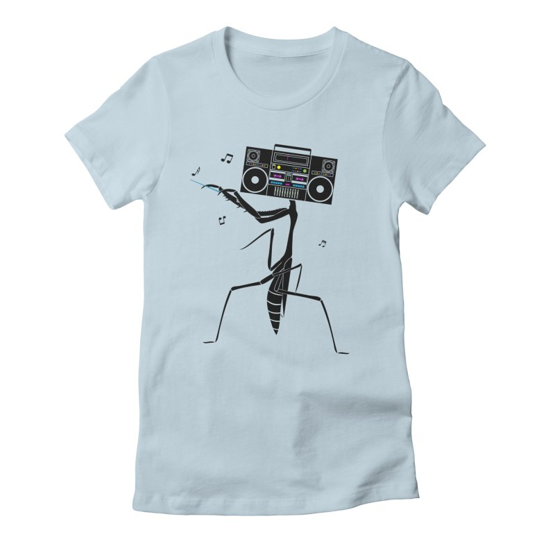 Praying Mantis Radio Women's Fitted T-Shirt by 84collective