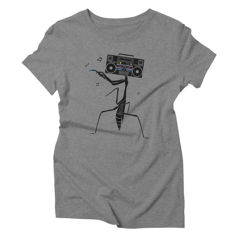Praying Mantis Radio Women's Triblend T-Shirt by 84collective