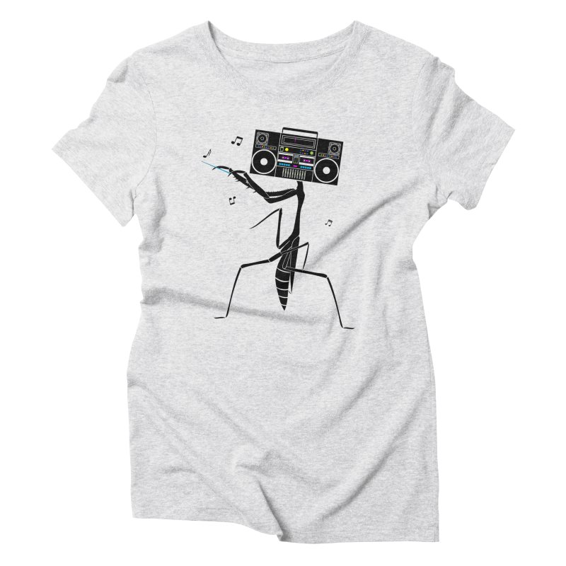 Praying Mantis Radio Women's Triblend T-Shirt by 84collective