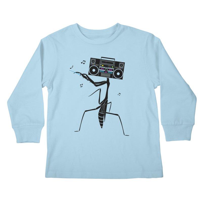Praying Mantis Radio Kids Longsleeve T-Shirt by 84collective