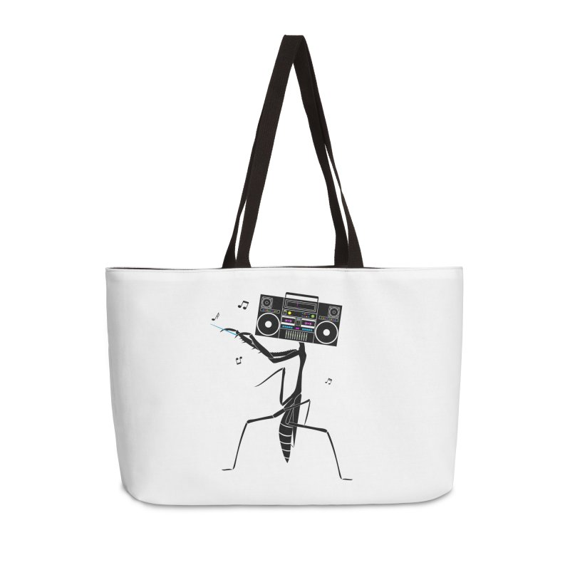 Praying Mantis Radio Accessories Weekender Bag Bag by 84collective