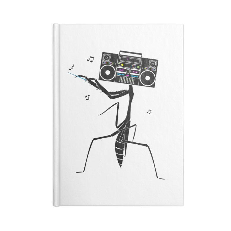 Praying Mantis Radio Accessories Blank Journal Notebook by 84collective