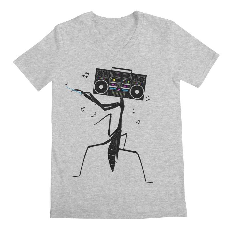 Praying Mantis Radio Men's Regular V-Neck by 84collective