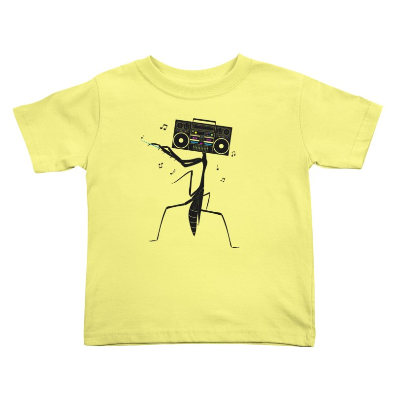Praying Mantis Radio Kids Toddler T-Shirt by 84collective