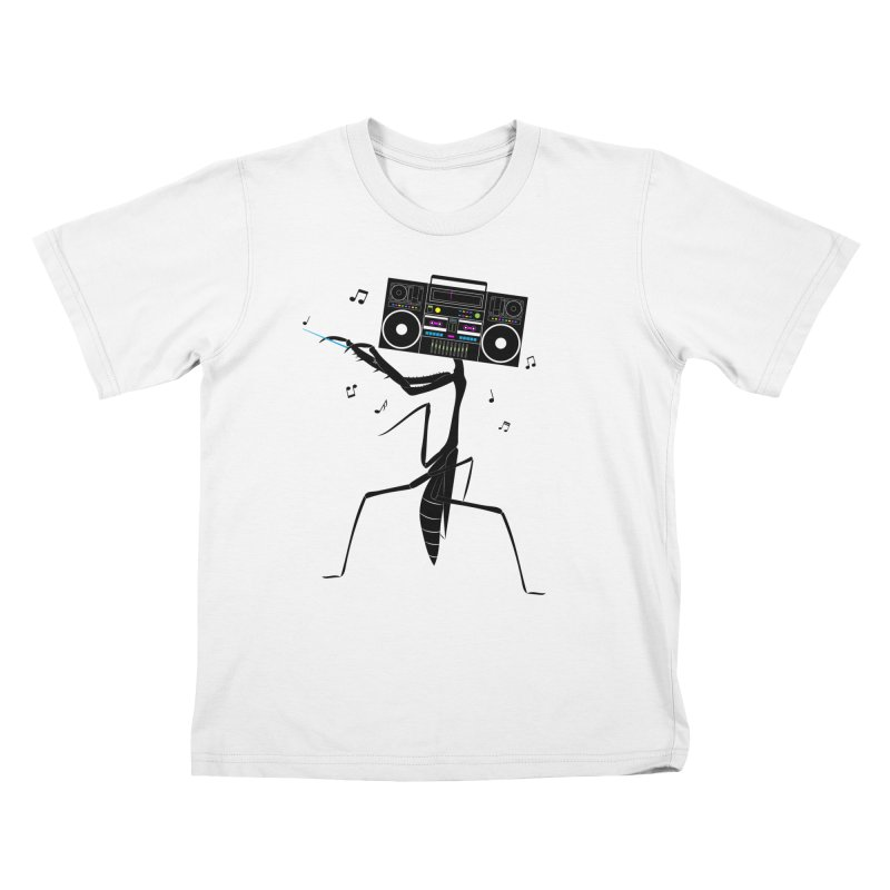 Praying Mantis Radio Kids T-Shirt by 84collective