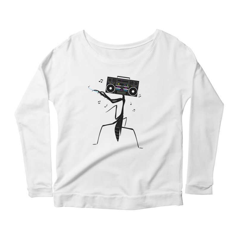 Praying Mantis Radio Women's Scoop Neck Longsleeve T-Shirt by 84collective