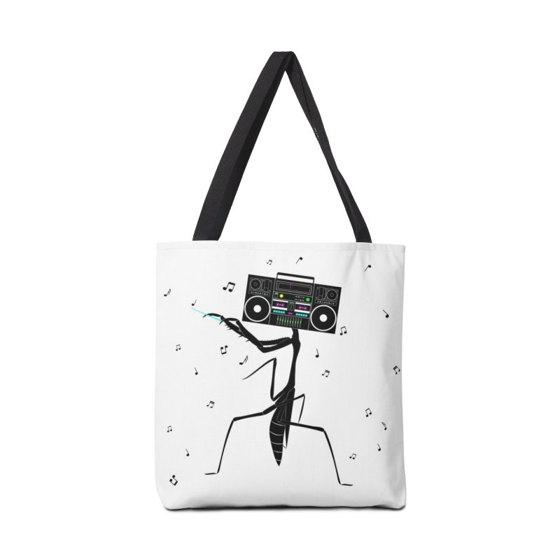 Praying Mantis Radio Accessories Tote Bag Bag by 84collective