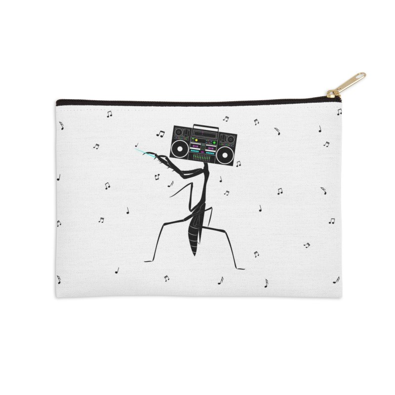 Praying Mantis Radio Accessories Zip Pouch by 84collective