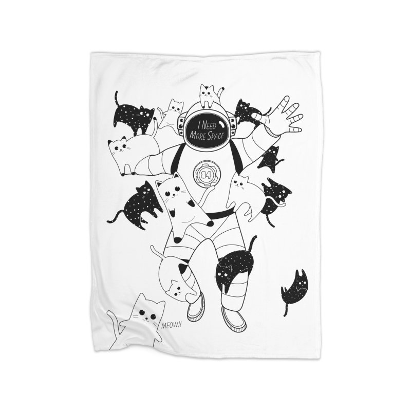 I Need More Space Cats Home Fleece Blanket Blanket by 84collective