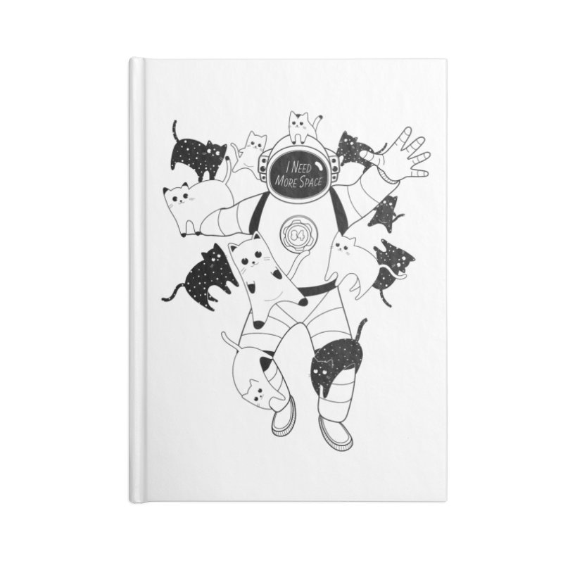 I Need More Space Cats Accessories Lined Journal Notebook by 84collective