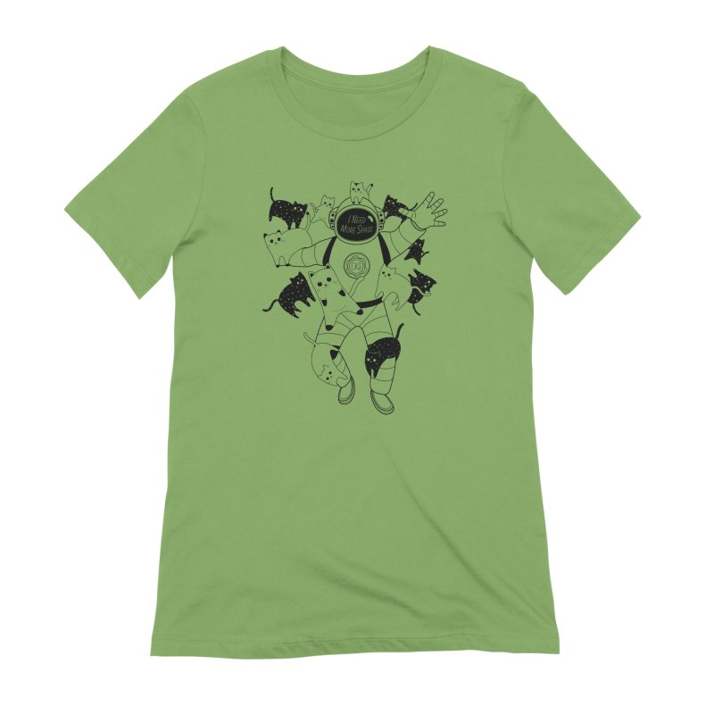 I Need More Space Cats Women's Extra Soft T-Shirt by 84collective
