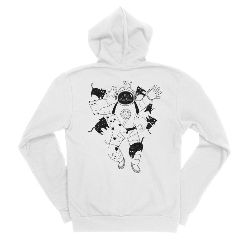 I Need More Space Cats Women's Sponge Fleece Zip-Up Hoody by 84collective
