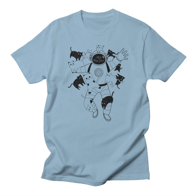 I Need More Space Cats in Men's Regular T-Shirt Light Blue by 84collective