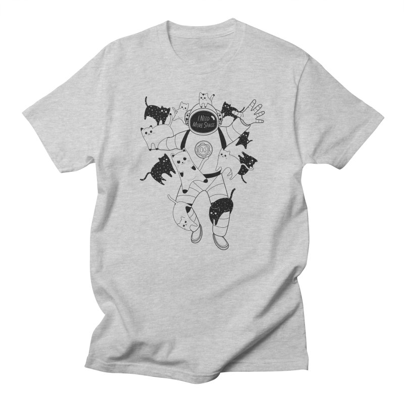 I Need More Space Cats in Men's Regular T-Shirt Heather Grey by 84collective