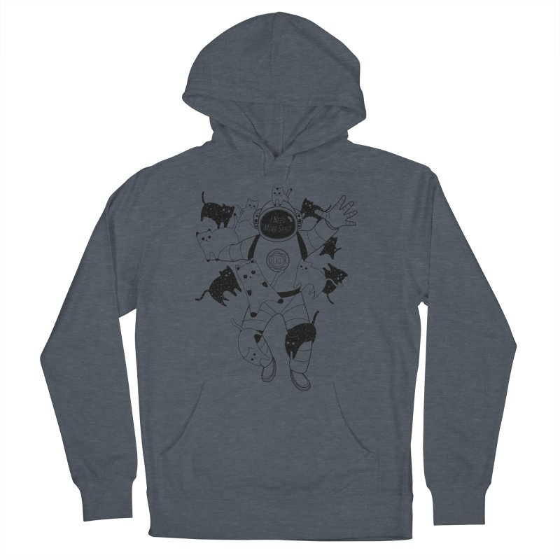 I Need More Space Cats Men's French Terry Pullover Hoody by 84collective