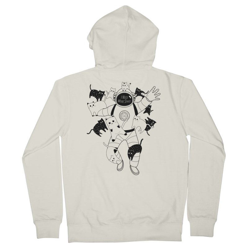 I Need More Space Cats Men's French Terry Zip-Up Hoody by 84collective
