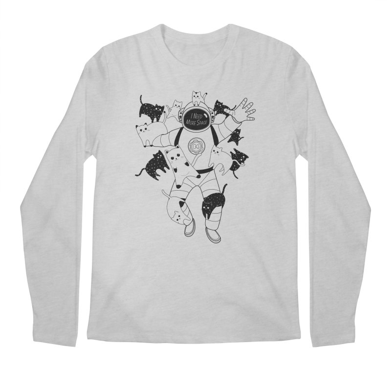 I Need More Space Cats Men's Regular Longsleeve T-Shirt by 84collective