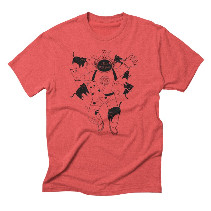 I Need More Space Cats Men's Triblend T-Shirt by 84collective