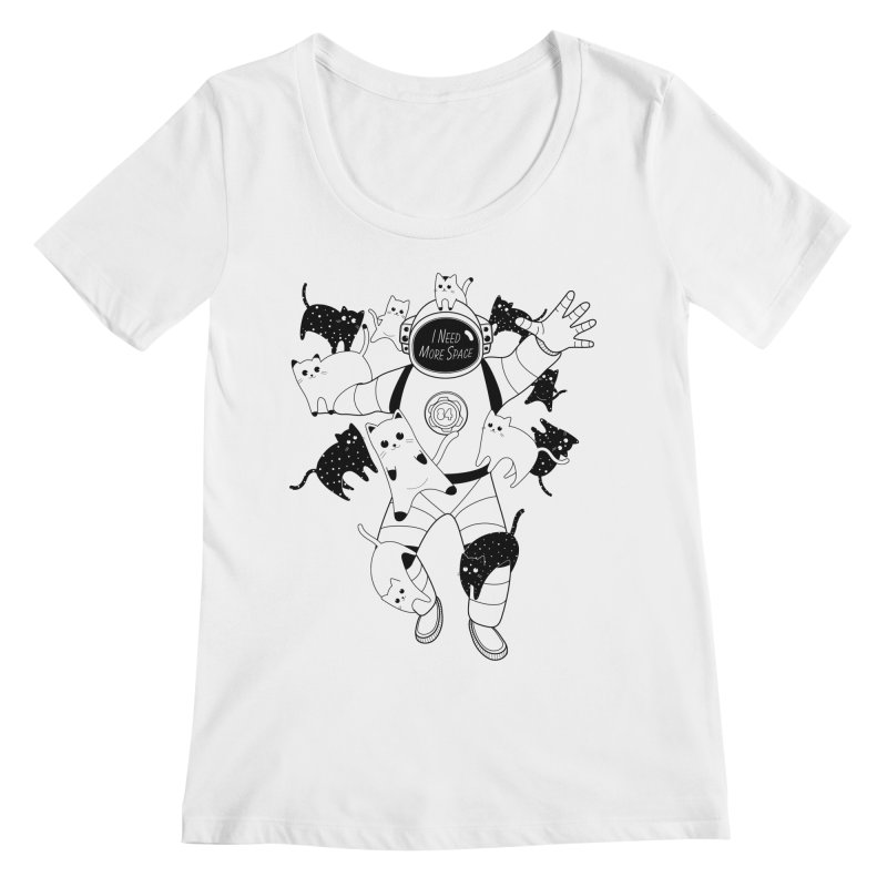 I Need More Space Cats Women's Regular Scoop Neck by 84collective