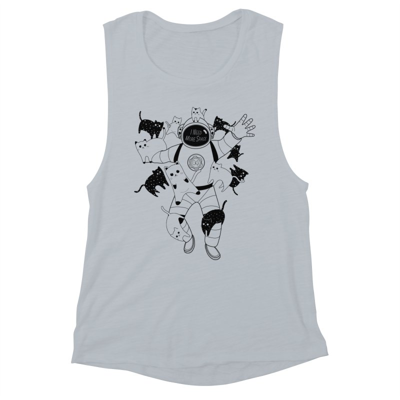 I Need More Space Cats Women's Muscle Tank by 84collective