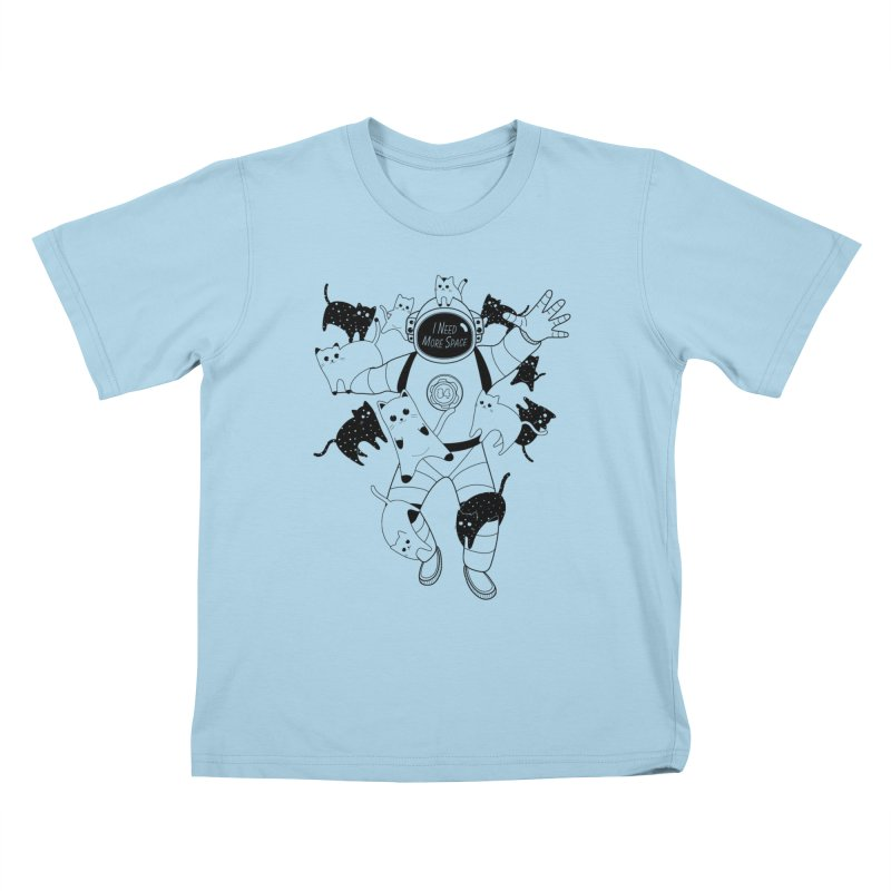 I Need More Space Cats Kids T-Shirt by 84collective