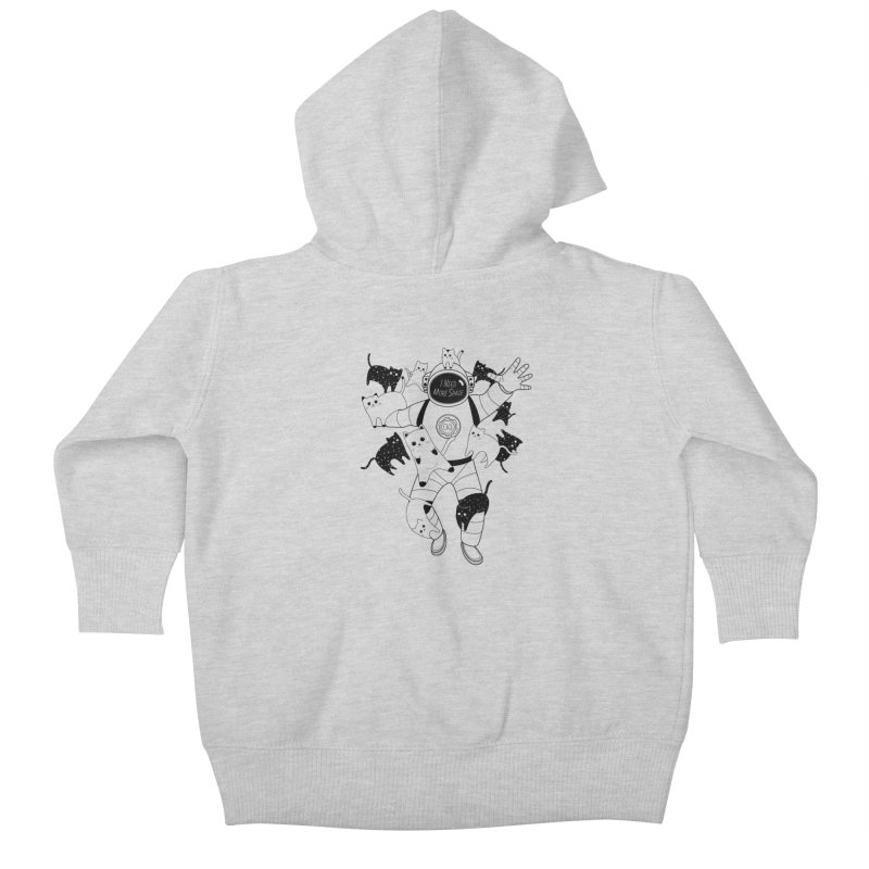 I Need More Space Cats Kids Baby Zip-Up Hoody by 84collective