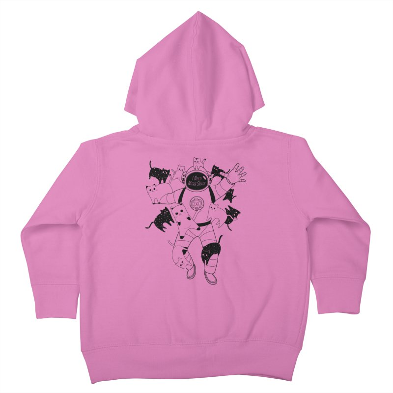 I Need More Space Cats Kids Toddler Zip-Up Hoody by 84collective