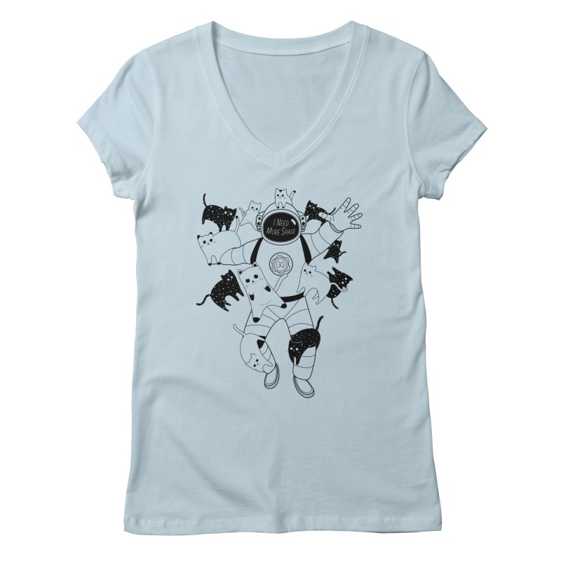 I Need More Space Cats Women's V-Neck by 84collective
