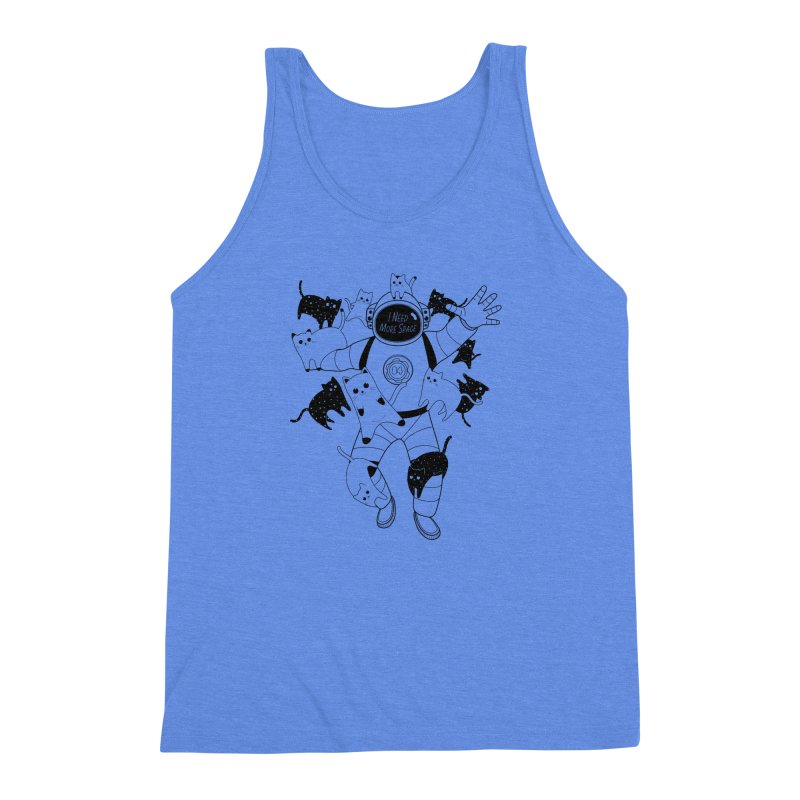 I Need More Space Cats Men's Triblend Tank by 84collective