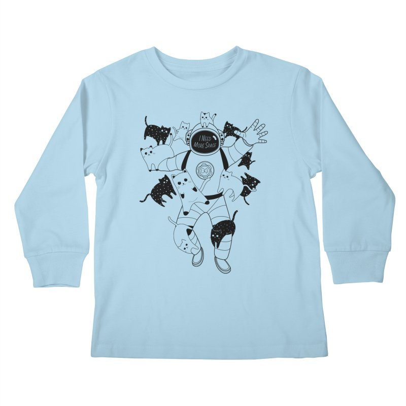 I Need More Space Cats Kids Longsleeve T-Shirt by 84collective