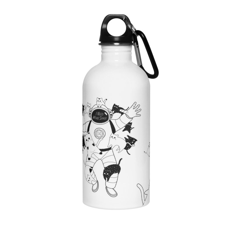 I Need More Space Cats Accessories Water Bottle by 84collective