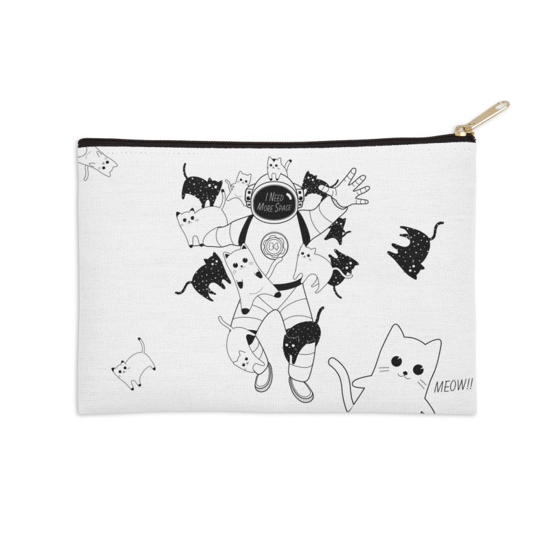 I Need More Space Cats Accessories Zip Pouch by 84collective