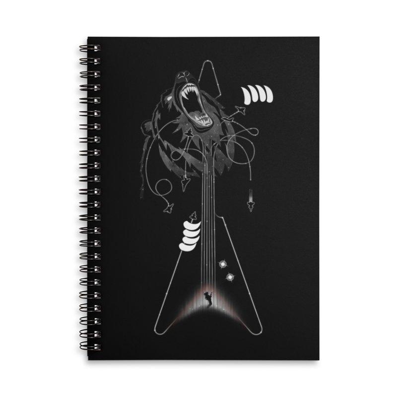 Interstellar Rock God Battle (Cosmic Bear vs Human) Accessories Notebook by 84collective