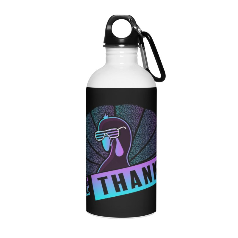 Gee Thanks (Sarcastic Thanksgiving Day Turkey) Accessories Water Bottle by 84collective