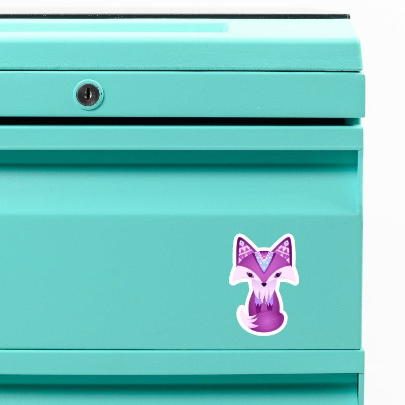 Mystical Woodland Fox (Purple) Accessories Magnet by 84collective