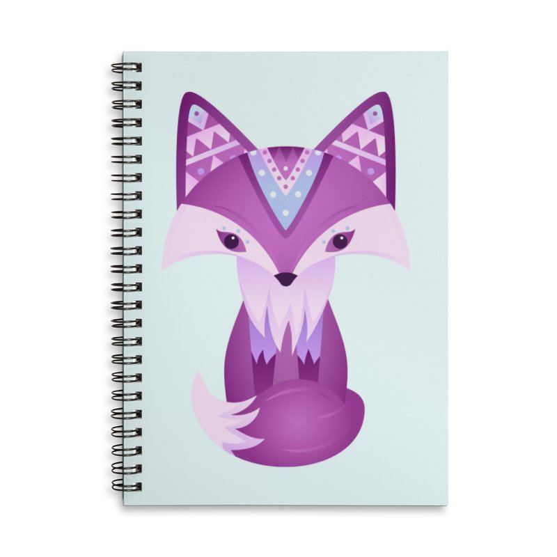 Mystical Woodland Fox (Purple) Accessories Notebook by 84collective