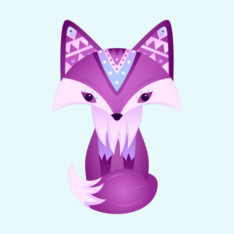 Mystical Woodland Fox (Purple) by 84collective