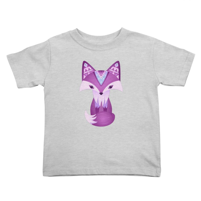 Mystical Woodland Fox (Purple) Kids Toddler T-Shirt by 84collective