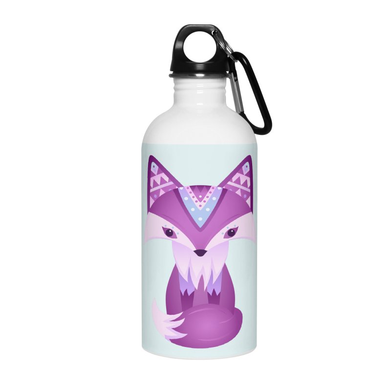 Mystical Woodland Fox (Purple) Accessories Water Bottle by 84collective