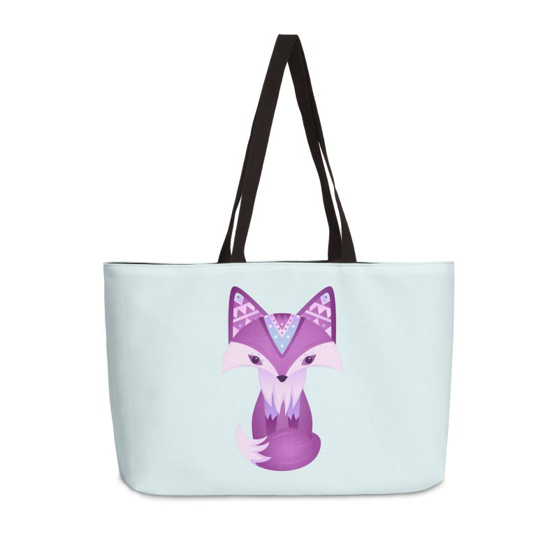 Mystical Woodland Fox (Purple) Accessories Weekender Bag Bag by 84collective