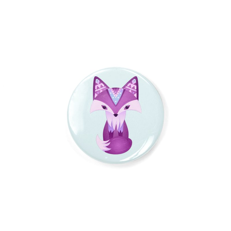 Mystical Woodland Fox (Purple) Accessories Button by 84collective