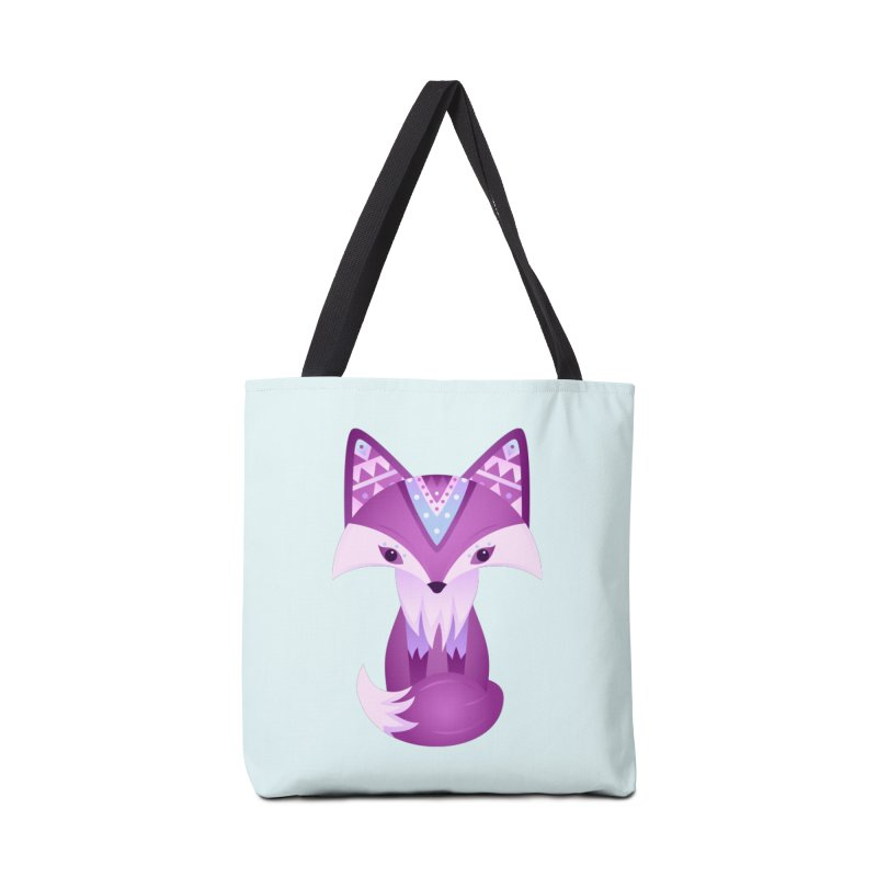 Mystical Woodland Fox (Purple) Accessories Tote Bag Bag by 84collective