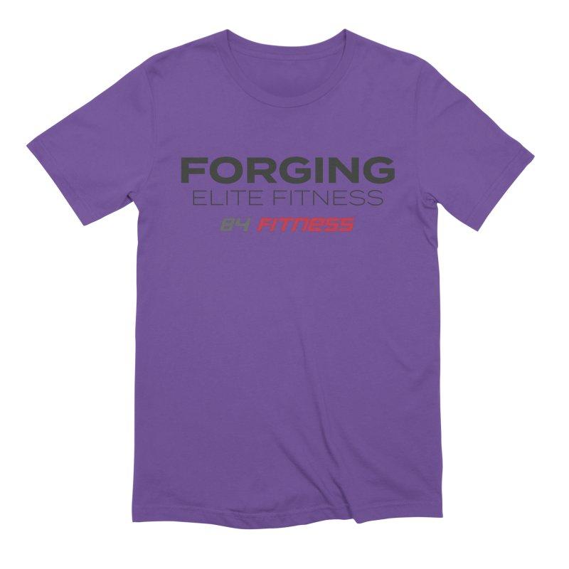 Forging Elite Fitness Men's T-Shirt by 84fitness's Artist Shop