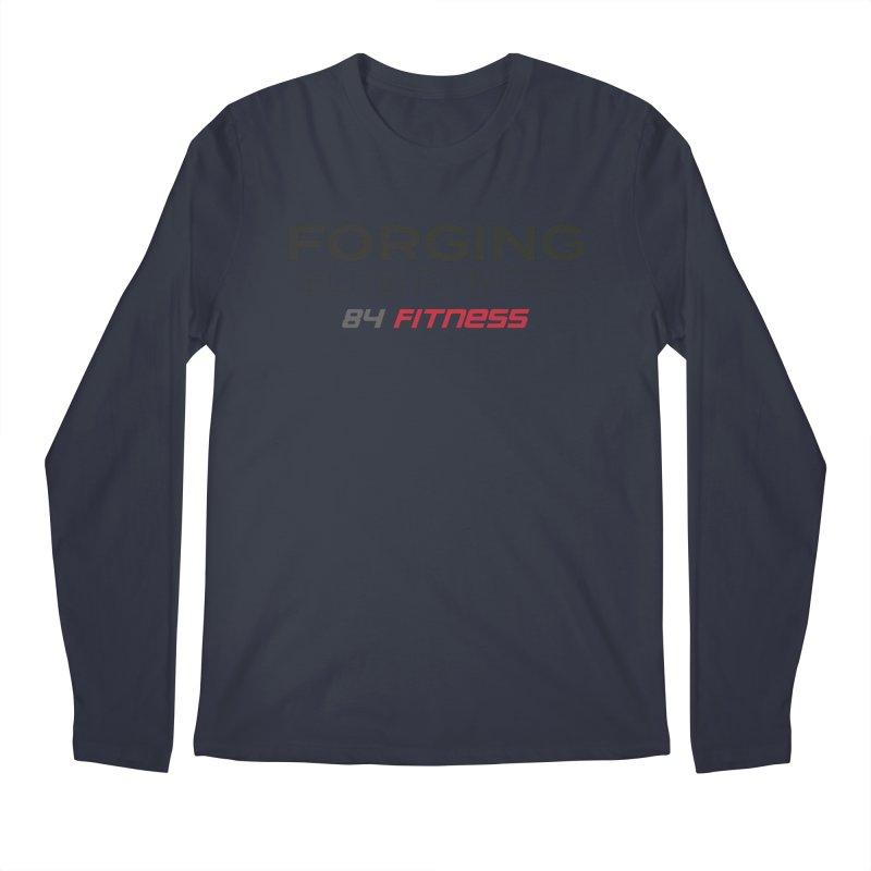 Forging Elite Fitness Men's Longsleeve T-Shirt by 84fitness's Artist Shop