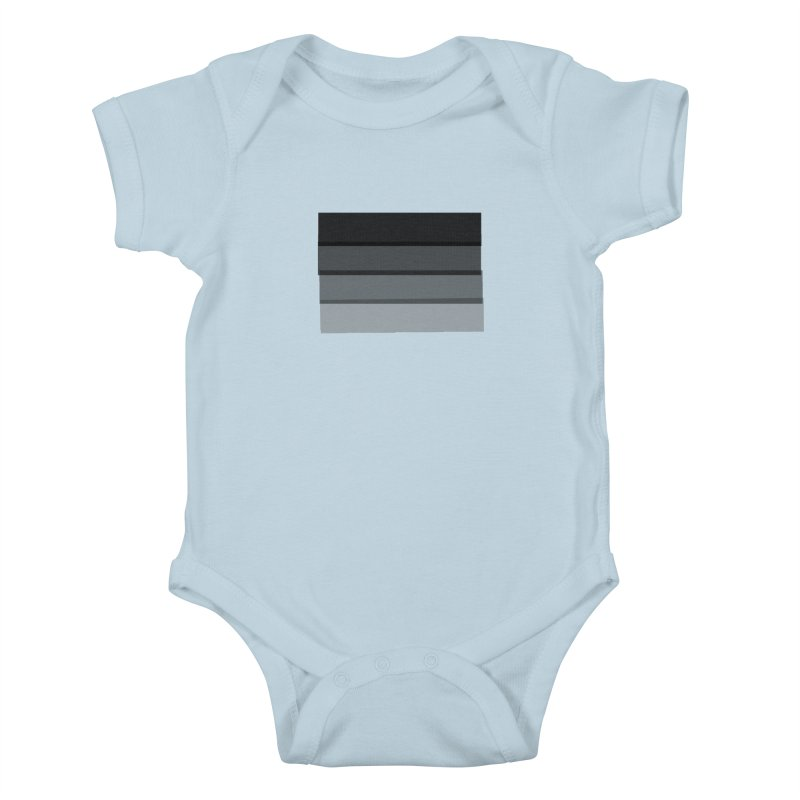 Noir Kids Baby Bodysuit by 8 TV Artist Shop