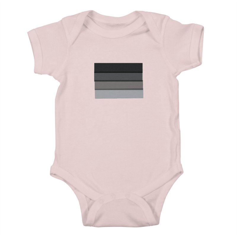 Noir Kids Baby Bodysuit by 8 TV Artist Shop
