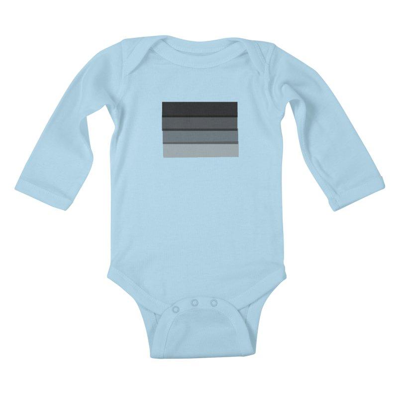 Noir Kids Baby Longsleeve Bodysuit by 8 TV Artist Shop