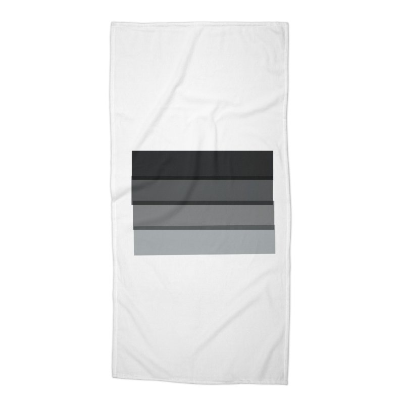 Noir Accessories Beach Towel by 8 TV Artist Shop