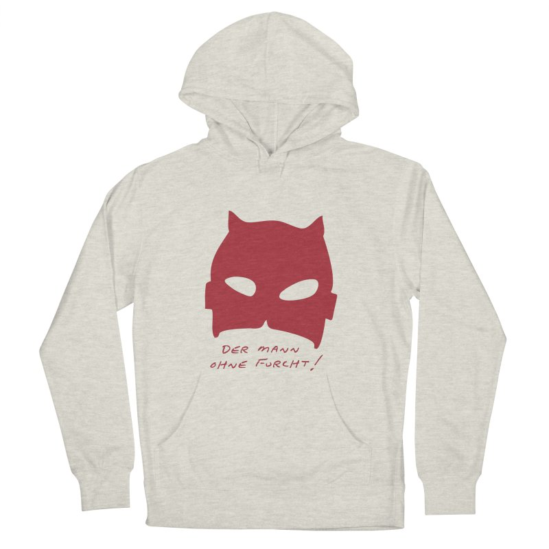 the man without fear Men's French Terry Pullover Hoody by 8 TV Artist Shop