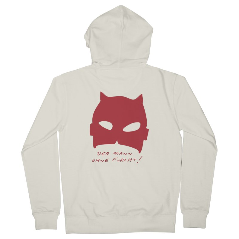 the man without fear Women's French Terry Zip-Up Hoody by 8 TV Artist Shop